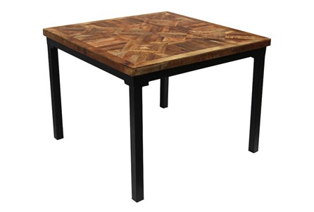Layered Wood Small Square Dining Table