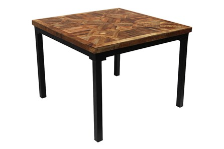 Layered Wood Small Square Dining Table - Main