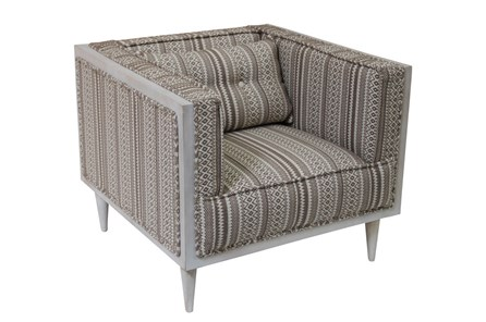 Multi Strip Wood Frame Chair