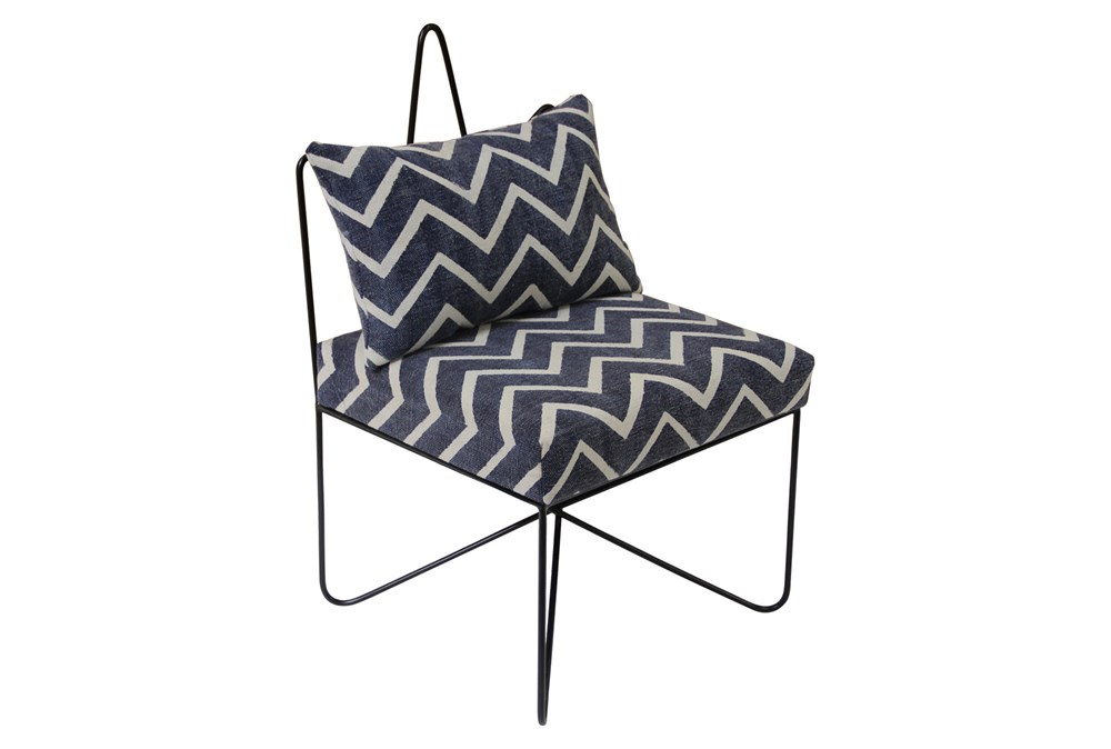 Navy Chevron Star Chair