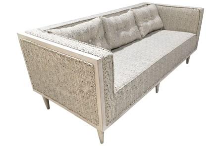 Wood Frame Grey Pattern Sofa