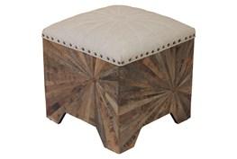 Starburst Wood Accent Ottoman
