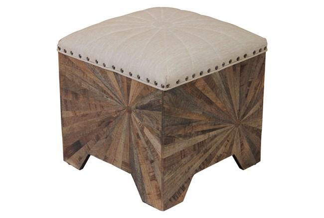 Starburst Wood Accent Ottoman - 360
