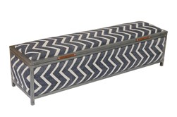 Stripe Storage Bench