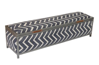 Stripe Storage Bench