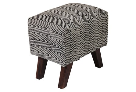 Triangle Stripe Accent Stool