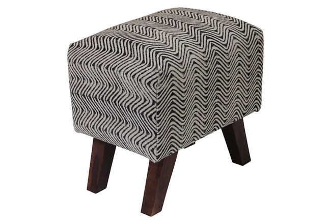 Triangle Stripe Accent Stool - 360