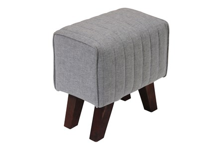 Grey Channel Accent Stool