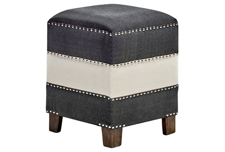 All Over Studed Stripe Accent Stool