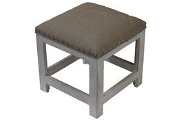 White Wash Accent Stool
