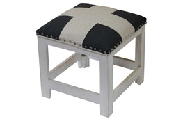 Large Check Accent Stool