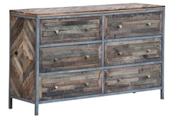 Herringbone 6 Drawer Dresser