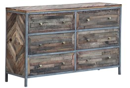 Herringbone 6 Drawer Dresser