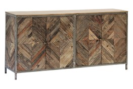 Herringbone 4 Door Sideboard