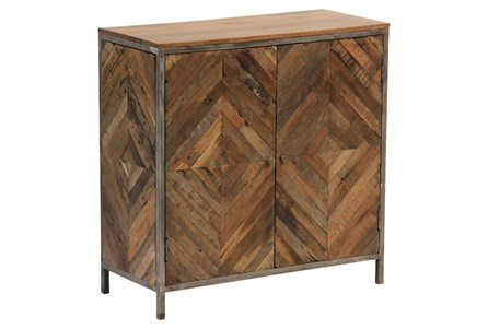 Herringbone 2 Door Cabinet