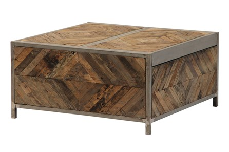 Herringbone Bar Box Coffee Table