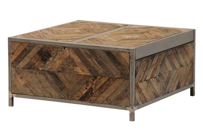 Herringbone Bar Box Coffee Table - 360