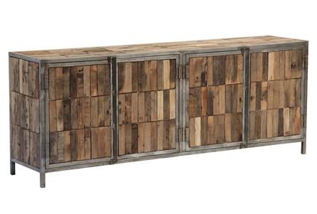 Multi Plank 4 Door Sideboard