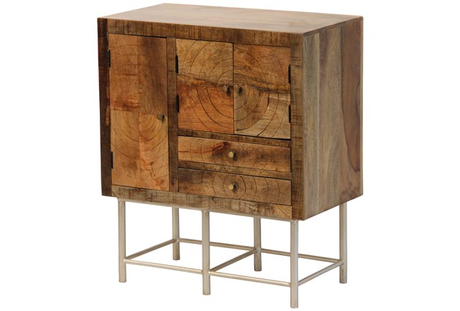 Swirled 2 Drawer 4 Door Cabinet On Stand - 360