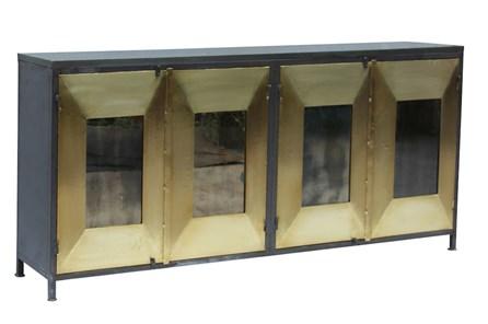 Mixed Dimensions 4 Door Brass Sideboard