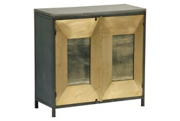 Mixed Dimensions Brass Cabinet