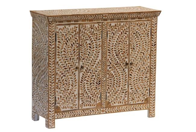 Wood Inlay 4 Door Cabinet - 360