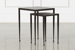 Dalston Antiqued Rust Nesting End Tables