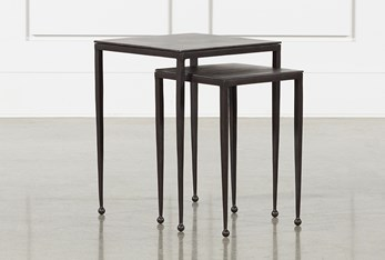 Dalston Nesting End Tables-Antique Rust
