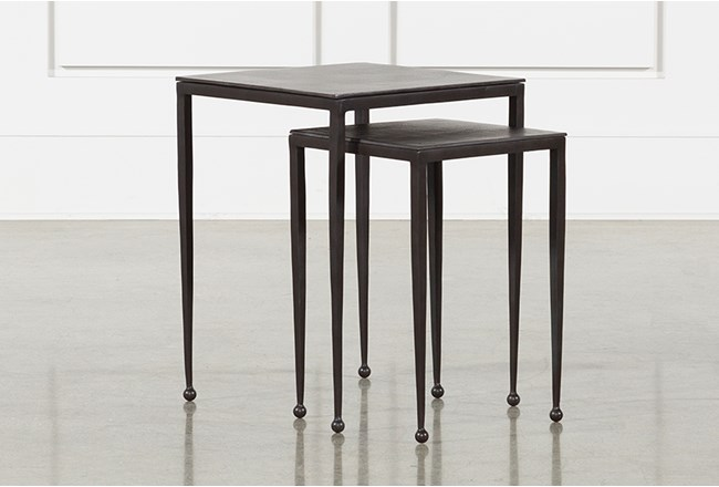 Dalston Nesting End Tables-Antique Rust - 360