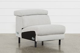Talin Linen Armless Chair W/ Ratchet Headrest