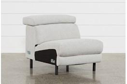 Talin Linen Armless Chair W/ Ratchet Headrest