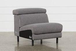 Talin Grey Armless Chair With Ratchet Headrest