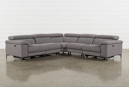 Talin Grey 5 Piece Power Reclining Sectional