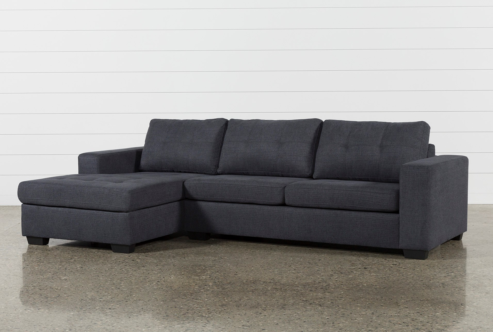 Remington Charcoal 2 Piece Sectional W Left Facing Storage Chaise
