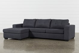 Remington Charcoal 2 Piece Sleeper Sectional W/Laf Storage Chaise