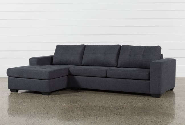 Remington Charcoal 2 Piece Sleeper Sectional W/Laf Storage Chaise - 360