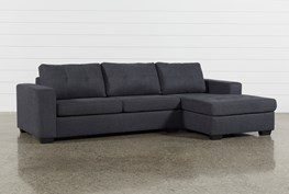 Remington Charcoal 2 Piece Sleeper Sectional W/ Raf Storage Chaise