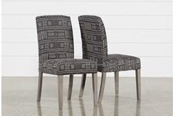 Garten Onyx Dining Side Chairs W/Greywash Finish Set Of 2