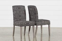 Garten Onyx Chairs W/Greywash Finish Set Of 2