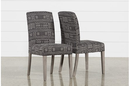 Garten Onyx Chairs W/Greywash Finish Set Of 2 - Main