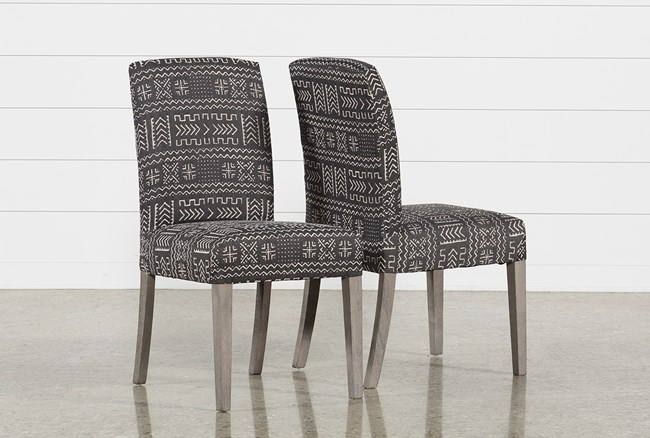 Garten Onyx Chairs W/Greywash Finish Set Of 2 - 360