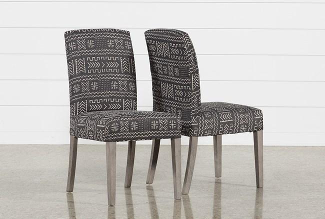 Garten Onyx Dining Side Chairs W/Greywash Finish Set Of 2 - 360