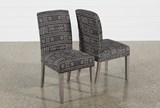 Garten Onyx Chairs W/Greywash Finish Set Of 2 - Front