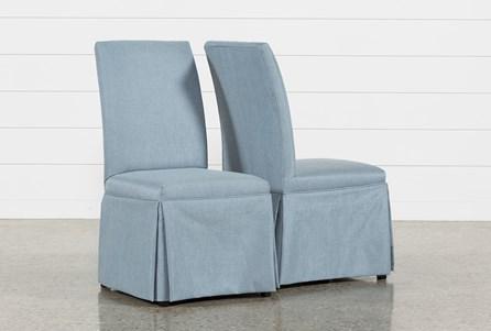 Garten Delft Skirted Side Chairs Set Of 2