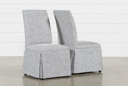 Garten Marble Skirted Side Chairs Set Of 2