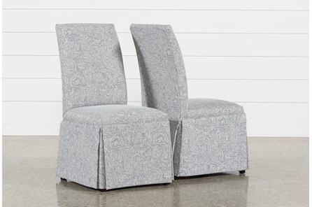Garten Marble Skirted Side Chairs Set Of 2 - Main