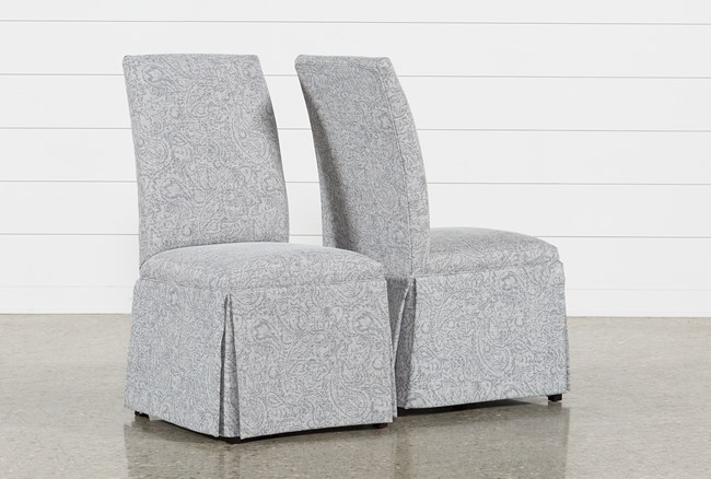 Garten Marble Skirted Side Chairs Set Of 2 - 360
