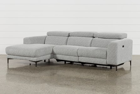 Maddie Grey 2 Piece Sectional With Left Facing Chaise