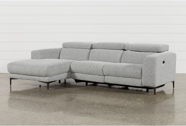 """Maddie Grey 2 Piece 109"""" Sectional With Left Arm Facing Chaise - 360"""