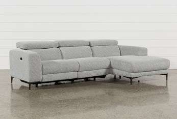 """Maddie Grey 2 Piece 109"""" Sectional With Right Arm Facing Chaise"""
